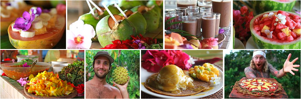 amazing raw meals and tropical fruits