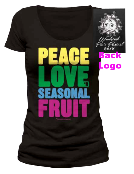 girls limited peace love n seasonal fruit t shirt