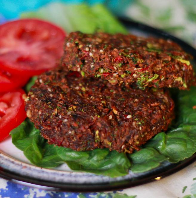 Deluxe Low Fat Raw Vegan Burger Recipe The Raw Advantage