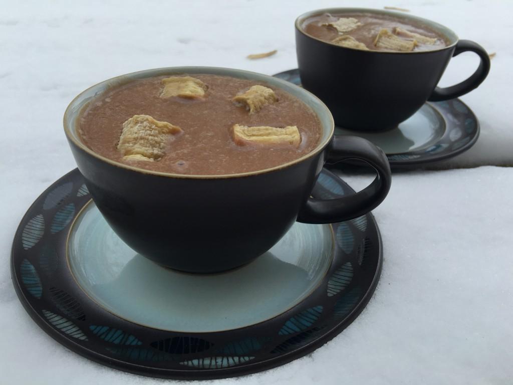 Raw Vegan Hot Chocolate and Marshmallows