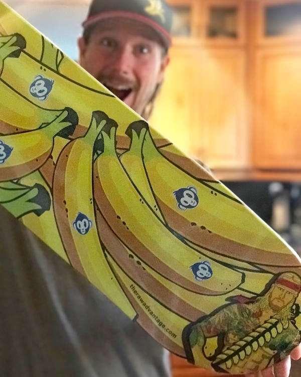 Chris Kendall Banana Commander Monke Skateboards Collaboration Deck