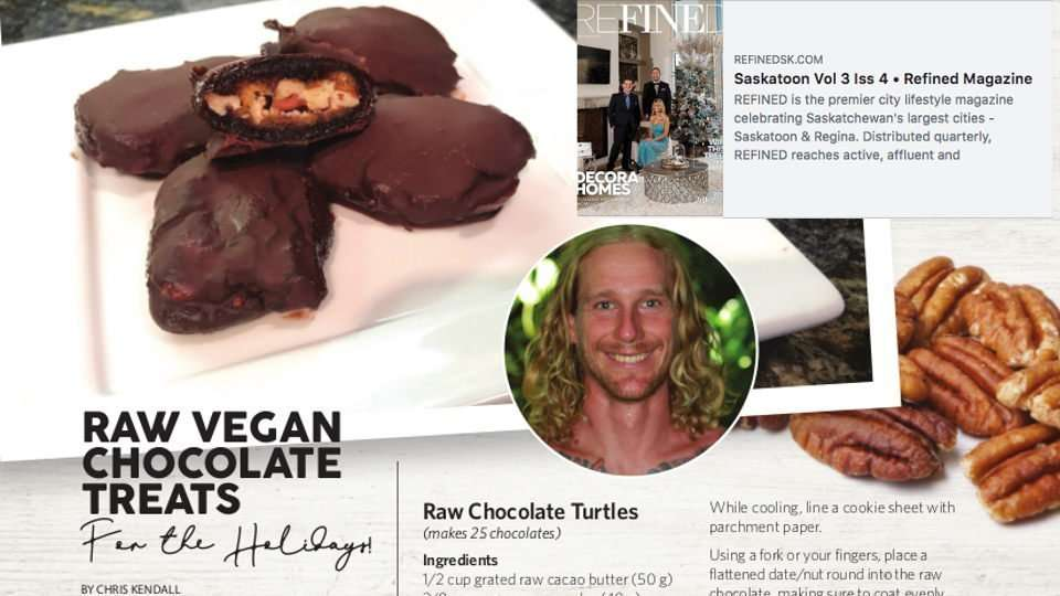 Raw Chocolate Recipe Featured in Refined Magazine!