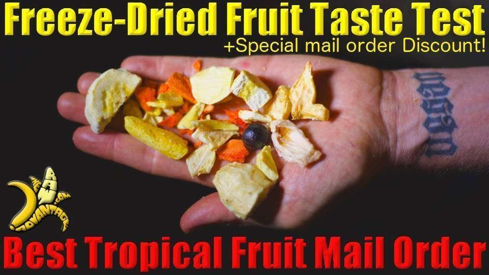 Tropical Fruit Taste Test, Best Freeze Dried and Fresh Tropical Fruit by Mail-order