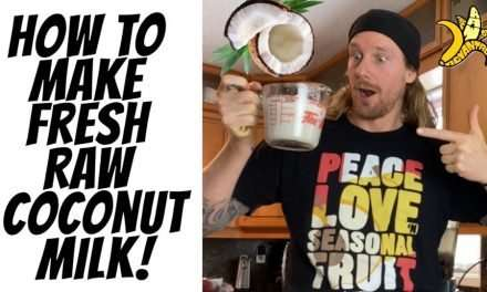 How to Make Fresh Raw Coconut Milk!