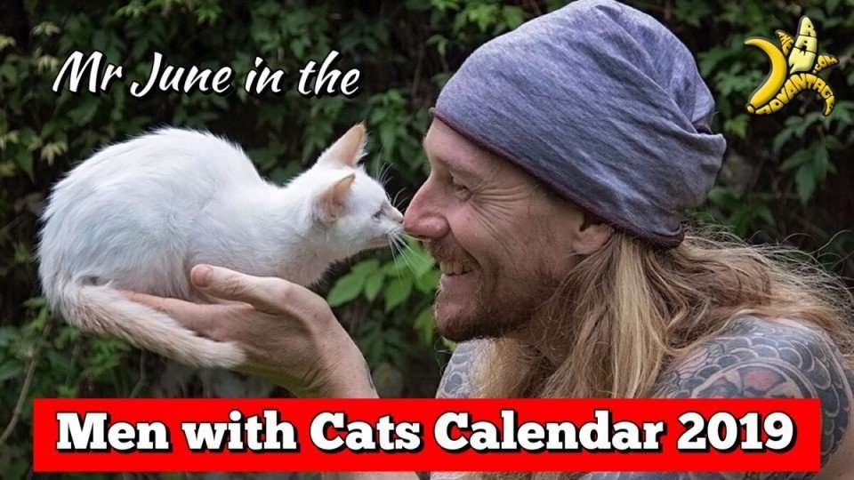Men with Cats Calendar 2019 – I'm Mr June! Proceeds for SCAT charity