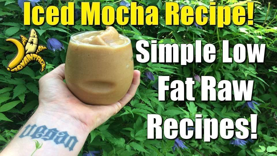 Iced Mocha, a Simple Raw Food Recipe