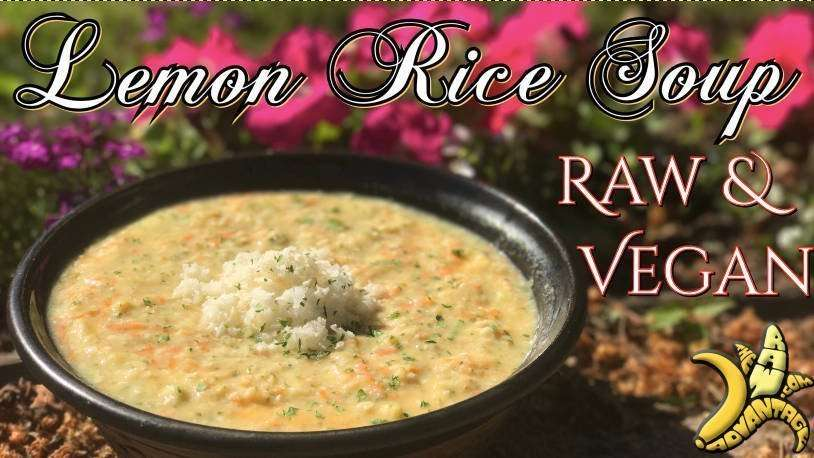 Lemon Rice Soup | Raw & Vegan