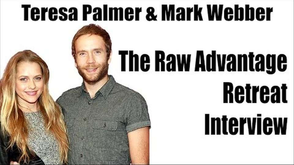 Teresa Palmer and Mark Webber at The Raw Advantage Retreat