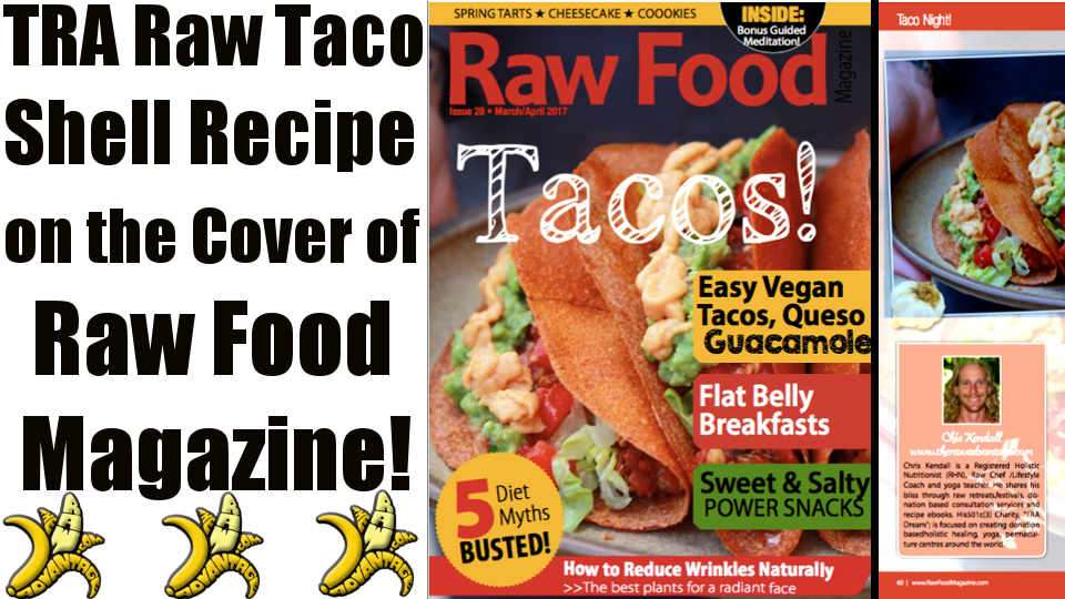 On the Cover of Raw Food Magazine!