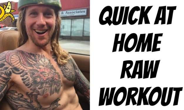 Quick At Home Raw Workout!
