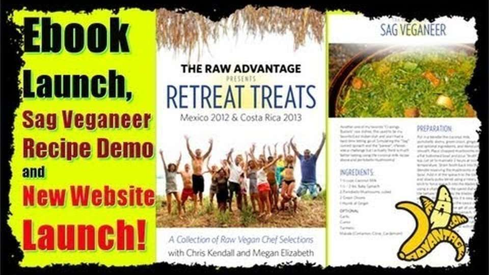 Sag Veganeer Raw East Indian Recipe, TRA Retreat Treats Book Release!