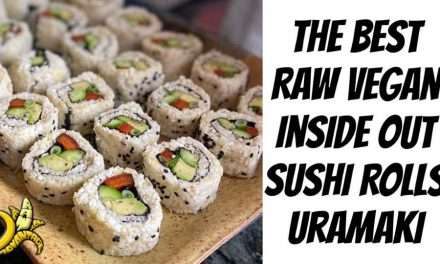 The Best Inside Out Sushi Roll Recipe | Raw Vegan Uramaki