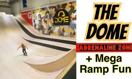 The Dome Adrenaline Zone Fun + Skateboarding the Mega Ramp!