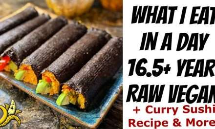 What I Eat in a Day 16.5 Year Raw Vegan | Curry Sushi Recipe