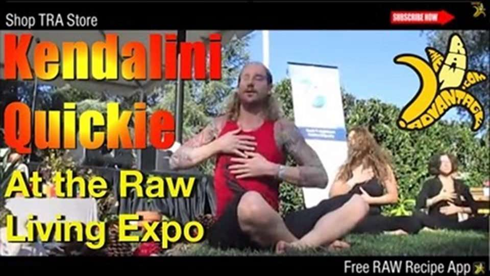 Kendalini's Quickie Yoga at The Raw Living Expo 2014