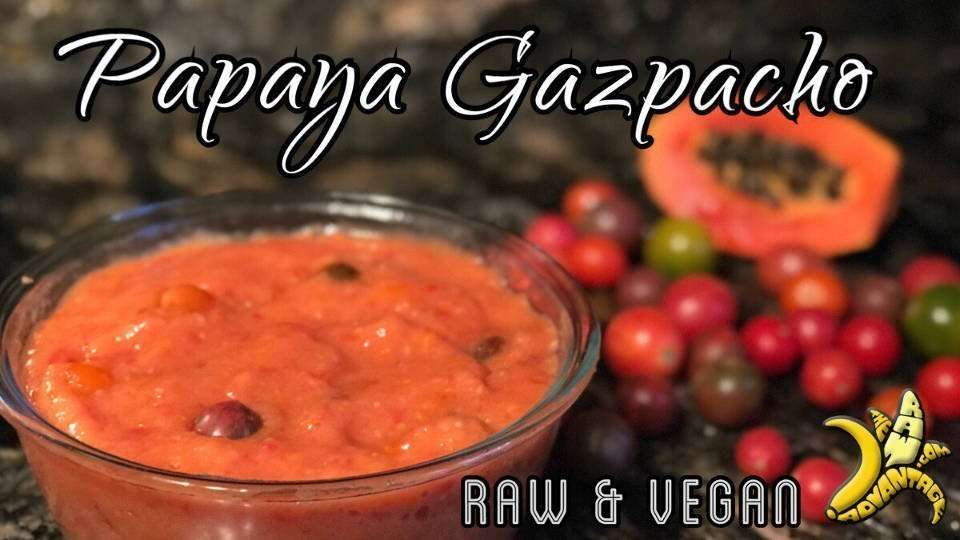 Papaya Gazpacho | Simple Raw Vegan Recipes