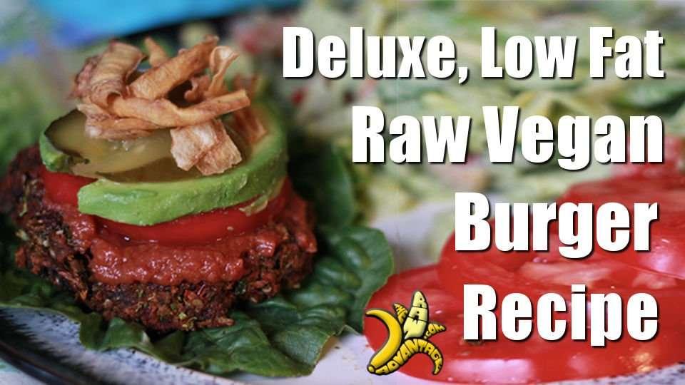 Deluxe Low Fat Raw Vegan Burger Recipe!