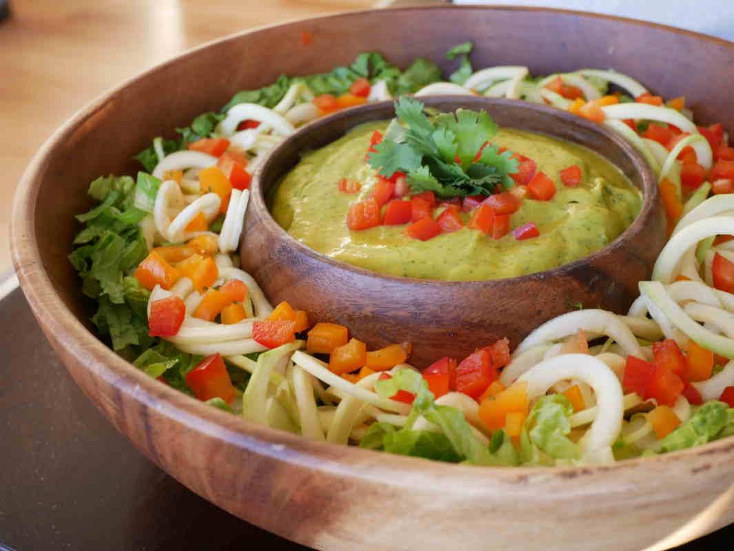 raw vegan noodle salad recipe chris kendall the raw advantage