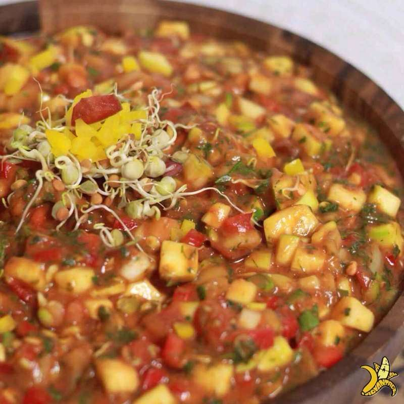 raw vegan sprouted lentil chili chris kendall the raw advantage