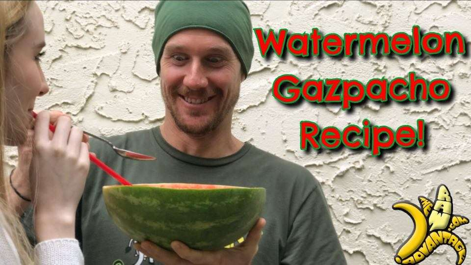 Watermelon Gazpacho Recipe | Simple Raw Vegan Recipes